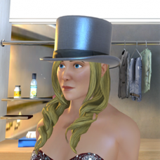 Silver Top Hat - Female