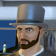 Silver Top Hat - Male