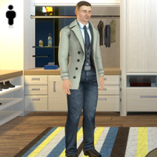 Wool Coat Outfit - Male