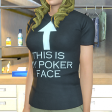"""This Is My Poker Face"" T-Shirt - Female"