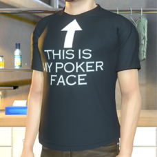 """This Is My Poker Face"" T-Shirt - Male"