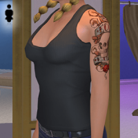Sleeveless Shirt and Tattoos - Female