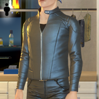 Leather Biker Jacket - Male