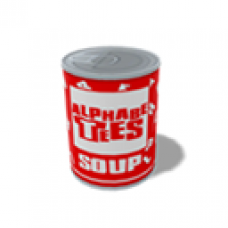 AlphabeTees soup tin seat