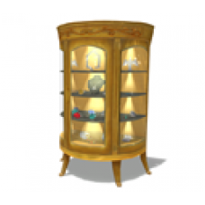 Animated Gold China Cabinet
