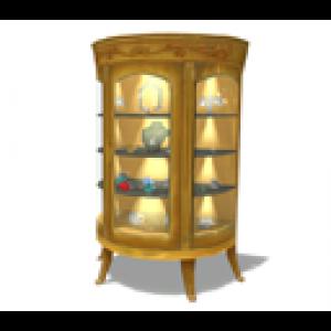 Animated Gold China Cabinet ...